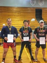 Leon wrestlers Gabe Beyer, Justin Grant and J.T. Grant all won regional titles on Saturday.