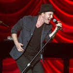 Gavin DeGraw opens for Shania Twain at the Wells Fargo Arena in Des Moines, Thursday, Aug. 6, 2015.