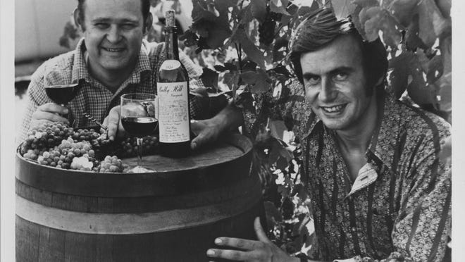 Winemaker Hermann Wiemer with Bully Hill founder Walter Taylor, circa 1970. Wiemer later was fired by a terse telegram on Christmas Eve in 1981.