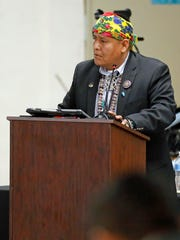 Navajo Nation Council Delegate Otto Tso, who represents Tó Nanees Dizí Chapter in Arizona, was a candidate for speaker. Tso shared his platform during the winter session on Monday in Window Rock, Ariz.