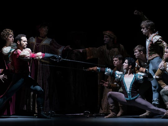 """Artistic director Victoria Morgan has revised her production of """"Romeo and Juliet"""" several times since it premiered in 2001. The ballet's newest incarnation will mark the company's return to Music Hall when it is performed Oct. 26-29. Seen here is a scene from a 2013 performance."""