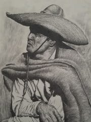 One of the more than 90 artists exhibiting work in the eighth annual Las Cruces Arts Fair is Mike Nail, a Las Cruces artist who primarily creates western-themed pencil drawings.