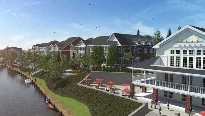 An artist's rendering of what the proposed Westport Crossing site could look like when completed.