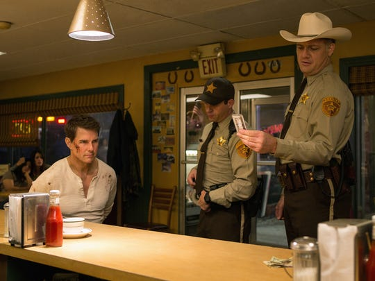 "Tom Cruise (from left), Jason Douglas and Judd Lormand star in ""Jack Reacher: Never Go Back."""