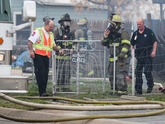 House fire on Beacon Street