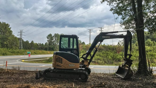 Work has begun near East-West Parkway and Hobson Road in Anderson, where county officials plan to create a public park.