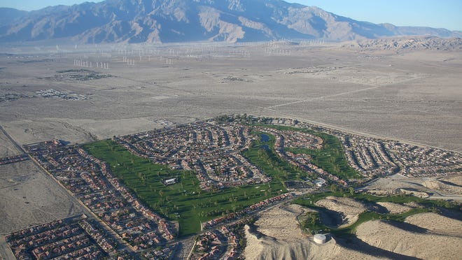 Mission Lakes Country Club in Desert Hot Springs, seen from the air in October 2014.
