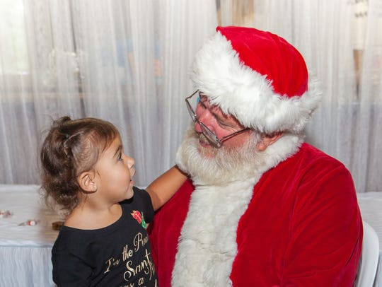 Little Audriella tells Santa what she wants for Christmas!