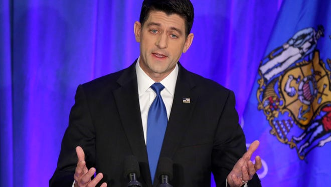 House Speaker Paul Ryan talks to the media Wednesday after a night of big GOP victories.