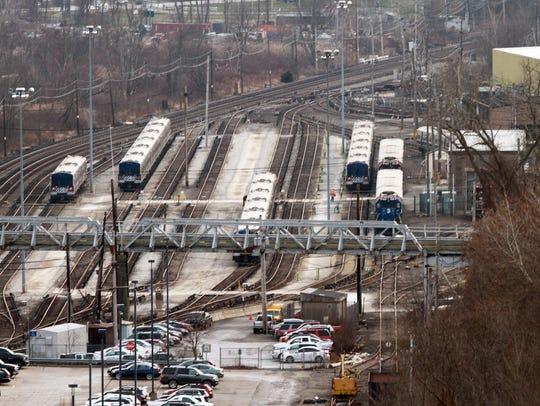 The Metro-North railroad Brewster maintenance facility