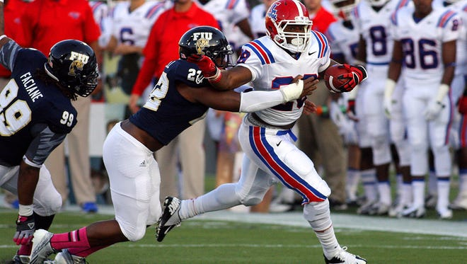 Louisiana Tech running back Kenneth Dixon piled up 183 total yards during a 2013 meeting at FIU.