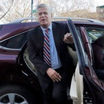 Former New York state Senate leader Dean Skelos arrives at Federal court, in New York, Friday, Dec. 11, 2015.