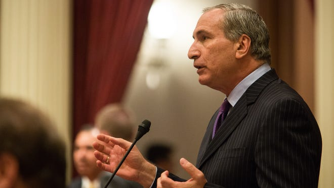 Republican state Sen. Jeff Stone, from Temecula, is pictured September 10, 2015, at the State Capitol in Sacramento, California.