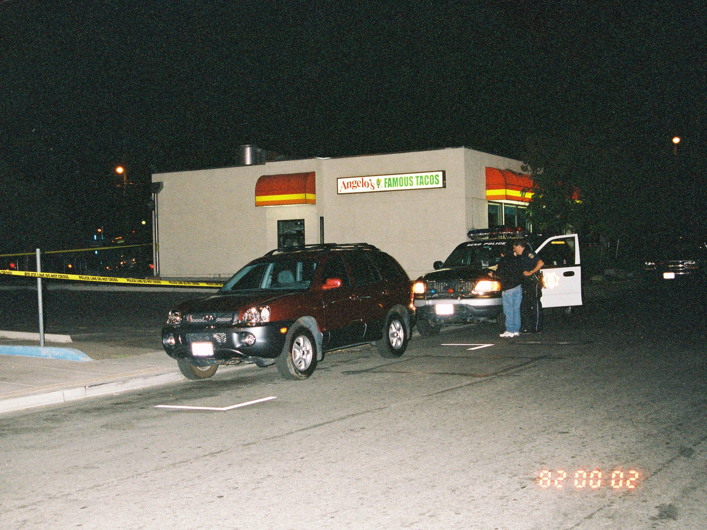 Melvin Gordon's SUV was found abandoned in the drive-thru of Angelo's Tacos on Prater Way in Sparks, Nev. on Sept. 25, 2002.