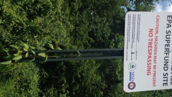 Despite warning signs like this, Lees Lane landfill