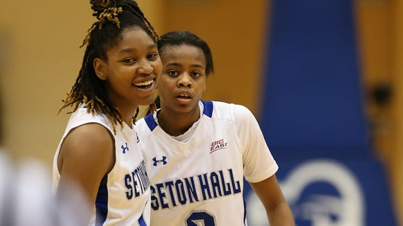 Former Alabama point guard Daisha Simmons (No. 0) has helped Seton Hall earn a ninth seed in the 2015 NCAA Tournament.