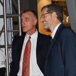 Paul Holmgren, left, has watched as general manager Ron Hextall traded away some of the contracts that got the Flyers in tight with the salary cap.