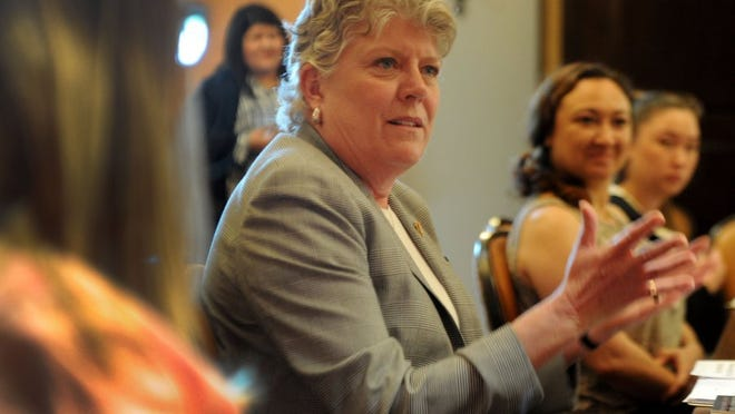JUAN CARLO/THE STAR U.S. Rep. Julia Brownley talks at a roundtable event for women veterans.