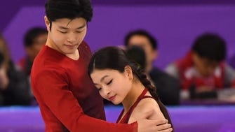 Maia Shibutani and Alex Shibutani in the free dance event Tuesday at the Olympics.