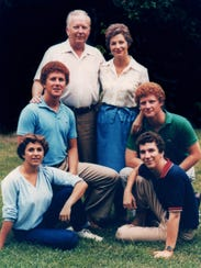 The Valentine family in spring 1981, just a few months