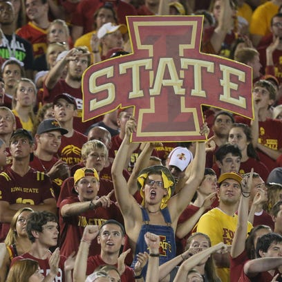Iowa State fans cheer on the Cyclones last season against