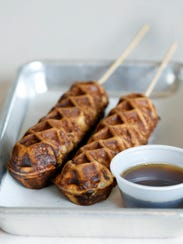 Waffles on a stick at Boxcar.