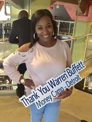 Erica Uzzle celebrates the Warren Buffett invitation