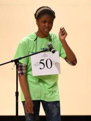 Maryland Eastern Shore Regional Spelling Bee contestant