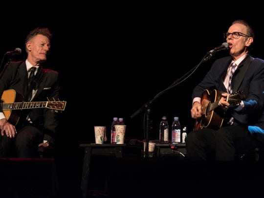 Lyle Lovett and John Hiatt perform a sold-out show at the Tennessee Theatre.