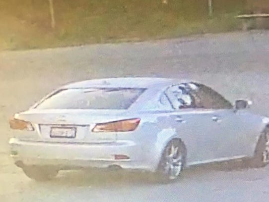 This car is associated with two men suspected of robbing