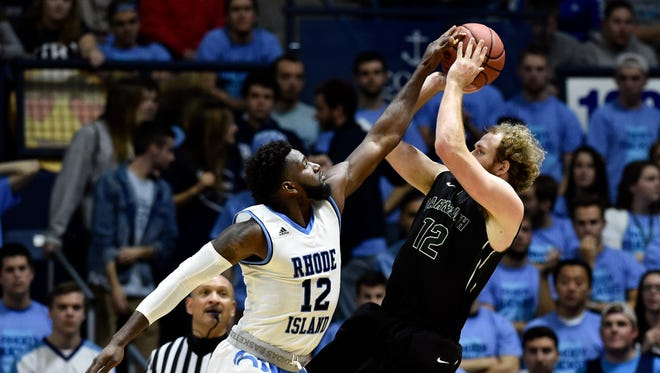 Dartmouth Big Green forward Evan Boudreaux (right) is a potential Purdue transfer target this offseason.
