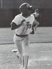 Dorsey Steamer runs to third base during a game in