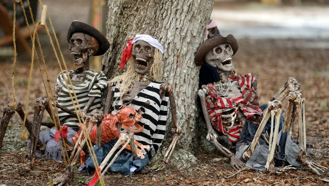 The Treasure Coast has several pirate festivals. These pirate skeletons were found at a recent Vero Beach Pirate Fest. The Port Salerno Pirate Fest is  is 2-11 p.m. Saturday, in and around The Twisted Tuna and Manatee Island Bar & Grill.