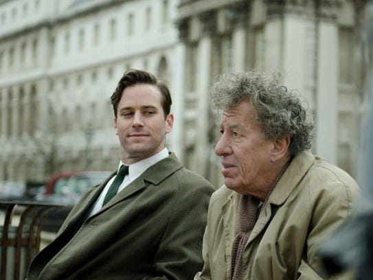 Writer James Lord (Armie Hammer) bonds with painter