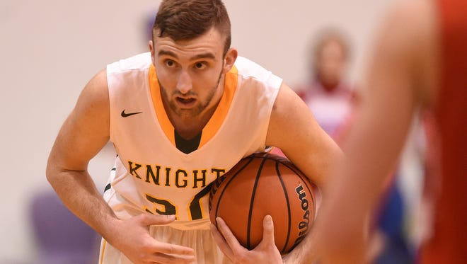 SECOND TEAM Nate Reynolds •Northeastern •Senior •Reynolds scored 11.4 points for the sectional champion Knights, and also averaged, 4.4 rebounds, 2.2 assists and, 2.8 steals