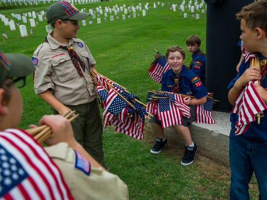 NAS-MEMORIAL DAY FLAGS