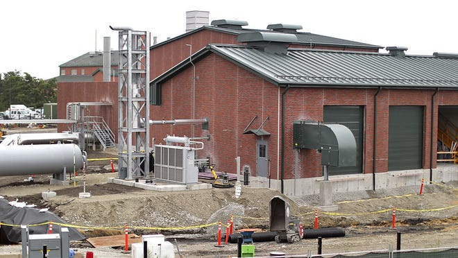 """The """"Weymouth Compressor"""" station along the Fore River in North Weymouth under construction on Thursday September 3, 2020  Greg Derr/ The Patriot Ledger"""