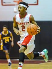 Bennett's Jorden Duffy drives to the basket during