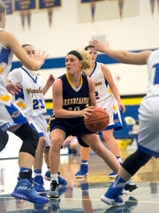 Greencastle's Morgan Wagaman (10) looks to make a pass