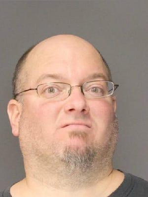 Jeffrey Meyers, 41, of Walden,  is accused of stealing an inflatable snowman.