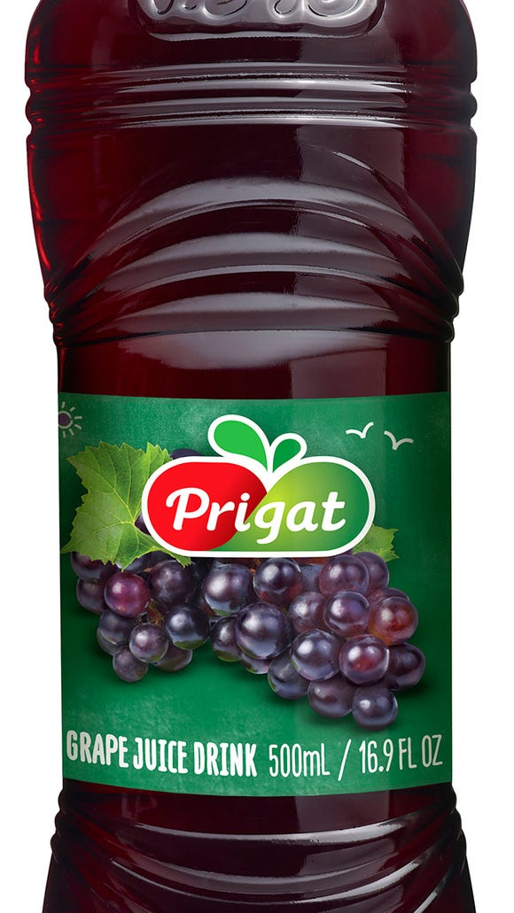Organic grape juice for the Seder table.