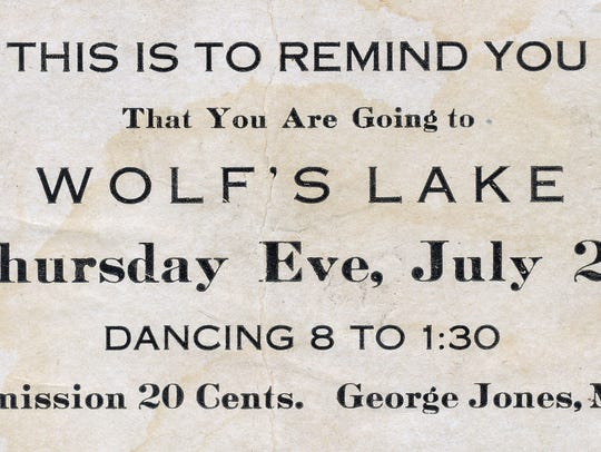 This is an advertisement card from the early 1900's