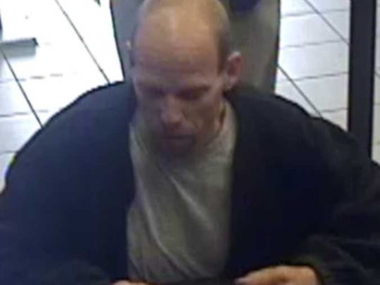 Police are looking for this man in connection with a Zelda Road business robbery.
