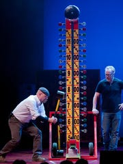 """""""MythBusters"""" hosts Jamie Hyneman and Adam Savage have adapted their Discovery Channel series for a live tour, which visits Ames on Monday."""