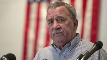 Chuck Jones, president of United Steelworkers Local 1999, speaks during a news conference at the union hall in Indianapolis, Friday, Dec. 9, 2016. Jones is planning to retire in June.