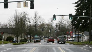 Pine Street, looking west, could be extended into a bridge that will cross the Willamette River to West Salem as part of the proposed Third Bridge plan. Though there is a vague timeline for construction, the next step for the project is the publication of an environmental impact statement from the state, likely due out this fall.