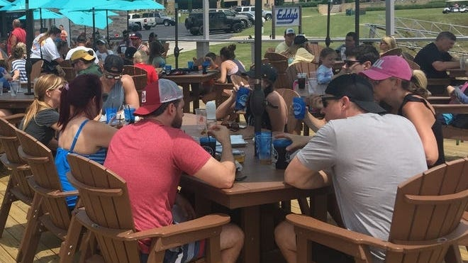 Young people enjoy Memorial Day weekend at Oklahoma Grand Lakes. Before Memorial Day, the majority of coronavirus cases were found in people 45 and older.  Now, the opposite is true.