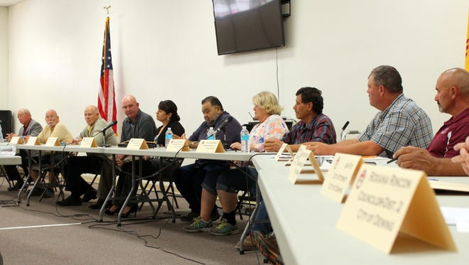 Officials of Luna County, City of Deming, Deming Public Schools and the Village of Columbus met Thursday, Sept. 29, 2016 to discuss a case study of a for a pro[osted alternate truck route from Columbus, NM. to Deming. The route would be necessary pending the completion of a new port of entry near Columbus.