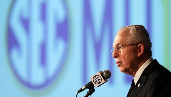Mike Slive announced Tuesday his retirement as SEC