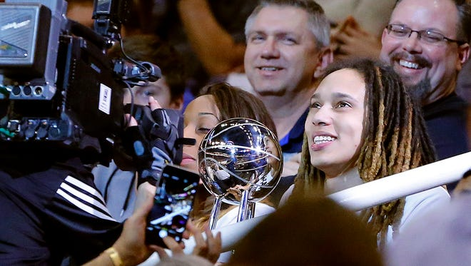 Mercury center Brittney Griner, who attended Wednesday's Suns-Timberwolves game, said she understands why teammate Diana Taurasi has chosen to sit out the upcoming WNBA season.